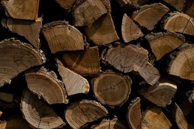 Nahaufnahmeaufnahme von geschnittenen baumpflanzen übereinander - ideal für hintergrund