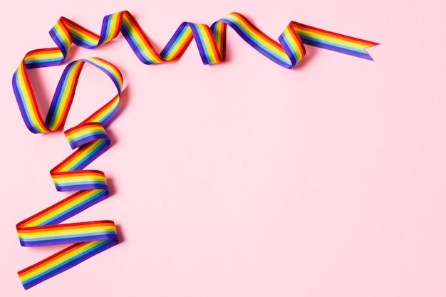 Nahaufnahmeband in regenbogenfarben