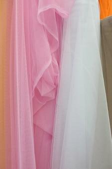 Nahaufnahmedetail der multi farbgewebebeschaffenheit