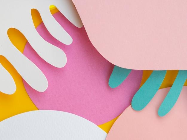 Nahaufnahmeformen des geometrischen papierhintergrundes