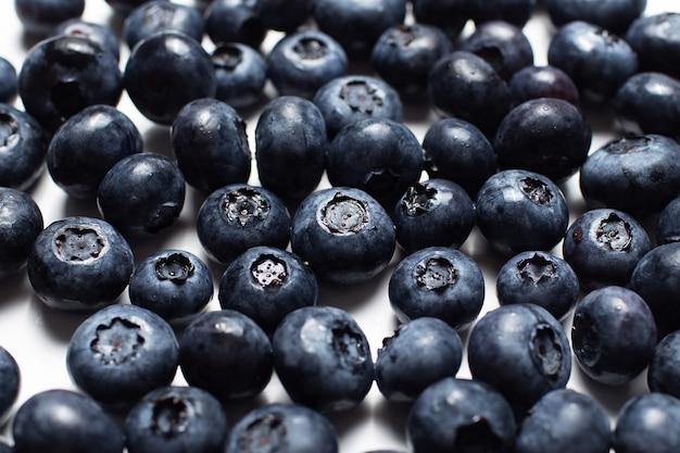 Nahaufnahmefoto von frischen blaubeeren, musterkonzept.