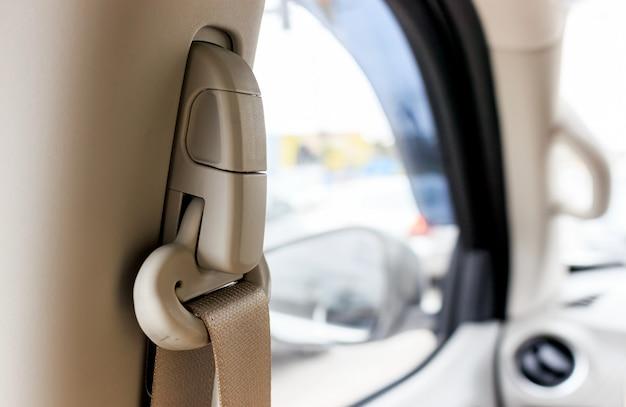 Nahaufnahmegurt im auto