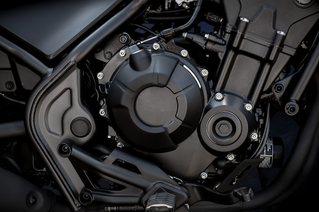 Nahaufnahmemotorradmotor