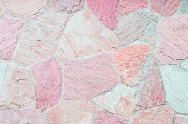 Nahaufnahmeoberfläche der schönen steinziegelsteinwand