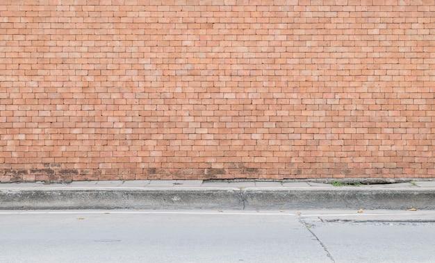 Nahaufnahmeoberfläche des ziegelsteinmusters am strukturierten hintergrund der alten braunen backsteinmauer