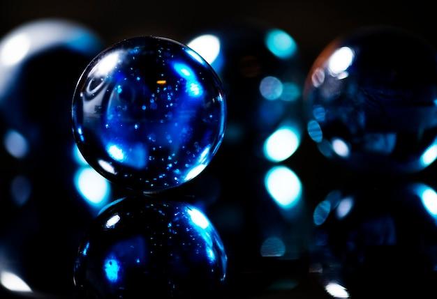 Nahaufnahmeschuß von glaskugeln