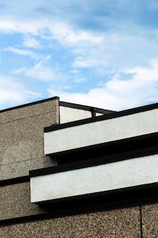 Nahaufnahmesteingebäudedesign