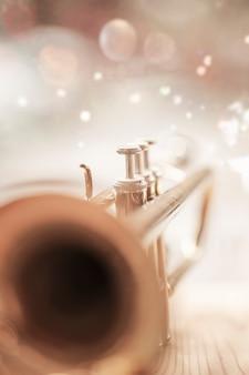 Nahaufnahmetrompete hauptsächlich glocke