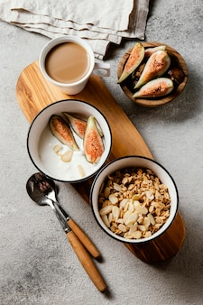 Nahrhafte frühstücksmahlzeit zusammensetzung