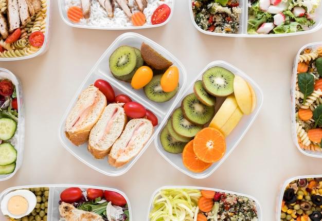 Nahrhaftes essen essen arrangement