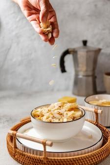 Nahrhaftes frühstückssortiment