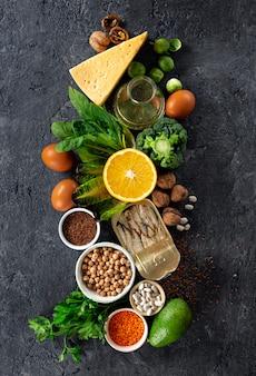 Nahrungsquellen für omega-3-fettsäuren und gesunde fette