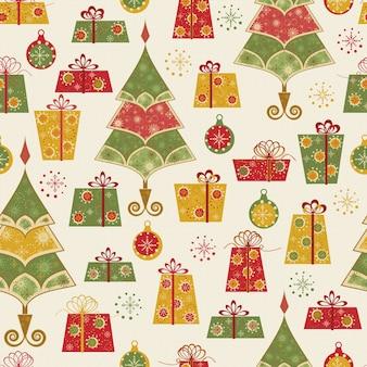 Nahtlose baummusterillustration weihnachten
