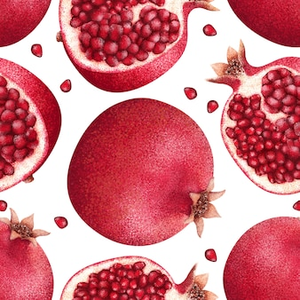 Nahtlose farben granatmuster. für textilien und stoffe