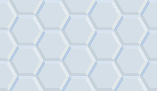 Nahtlose illustration des keramikfliesenhexagons
