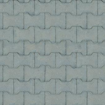 Nahtlose kippbare textur von grauen pflastersteinen