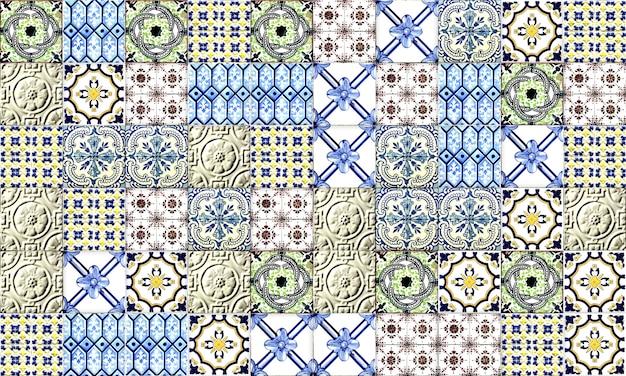 Nahtlose portugal oder spanien azulejo fliese. hohe auflösung.