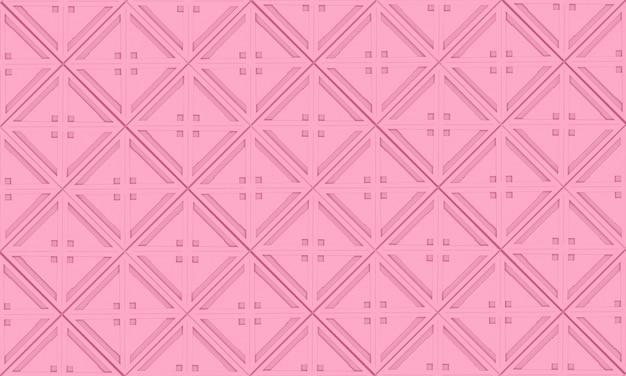 Nahtlose süße weiche rosa farbtongitterquadratkunst-musterfliese