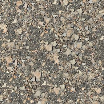 Nahtlose textur des steinigen bodens.