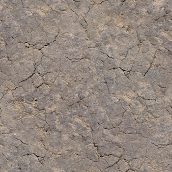 Nahtlose textur - trockener, rissiger lehmboden