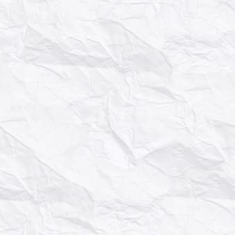 Nahtlose textur. weißes zerknittertes papier. hintergrund