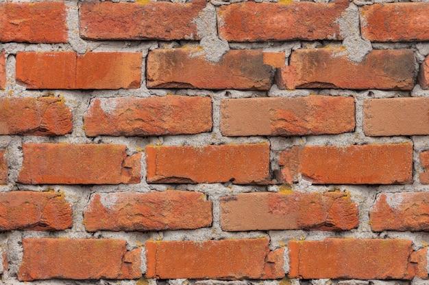Nahtlose textur ziegelmauer des roten alten ziegels