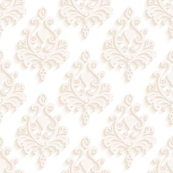 Nahtlose texturtapeten im stil des barock. moderne abbildung.