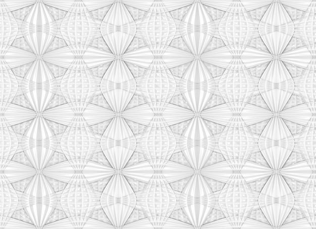 Nahtloser abstrakter moderner weißer entfernter kurvenart-wandhintergrund.