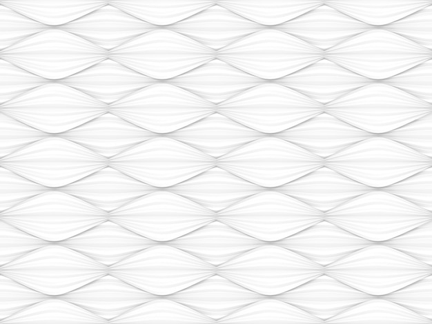 Nahtloser abstrakter moderner weißer kurvengrafikart-wandhintergrund.