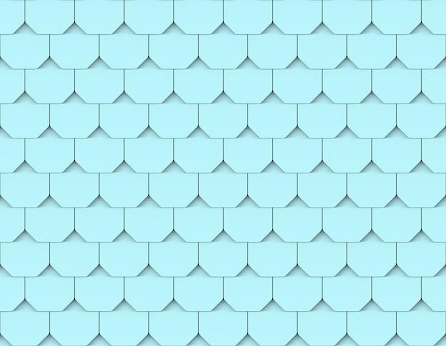 Nahtloser hellblauer dachmuster-wandhintergrund