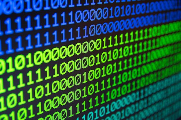 Nahtloser hintergrund des binären matrixcomputer-daten-codes