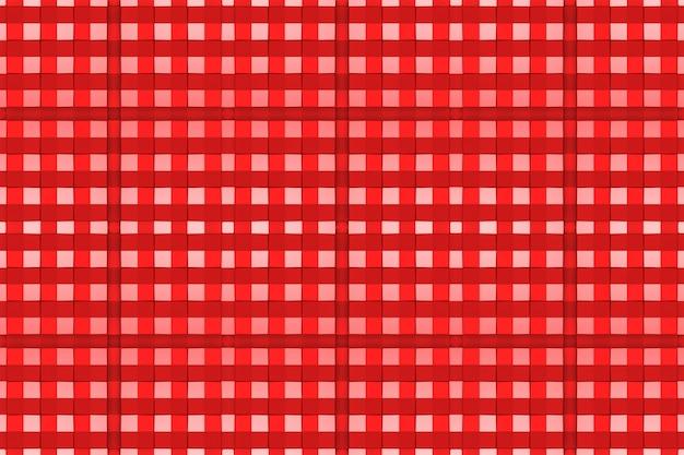 Nahtloser moderner formhintergrund des roten quadrats mit fliesengewebe