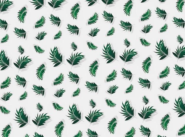 Nahtloser musterhintergrund der palmblätter