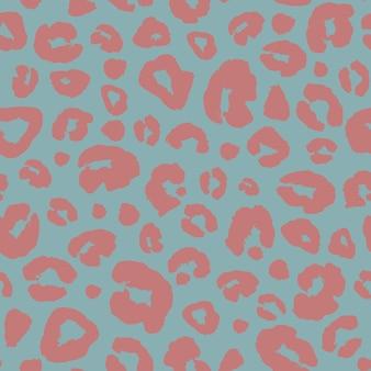 Nahtloser musterhintergrund des leopardenhautdruckes. tierfell spot abstrakte tarnung textur. bunter handgezeichneter gepunkteter druck für packpapier, tapeten, textilien.