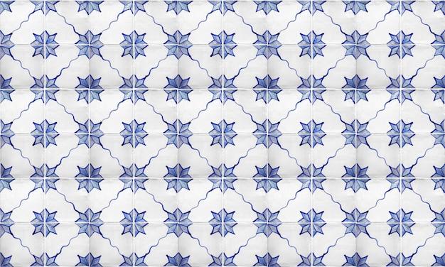 Nahtloser portugal- oder spanien-azulejo-fliesen-hintergrund