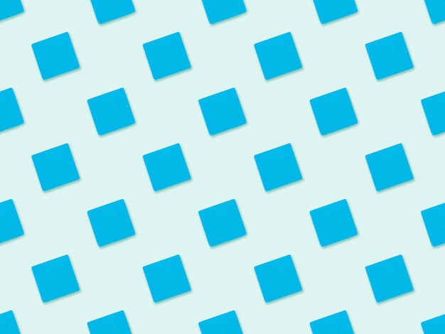 Nahtloses abstraktes blaues würfelmuster auf blauem hintergrund