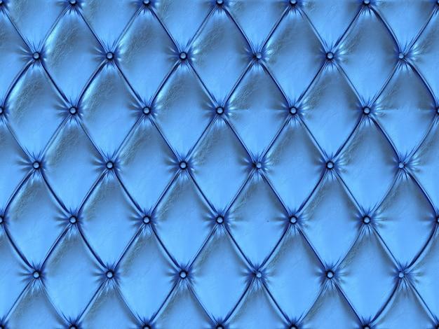 Nahtloses blaues lederpolstermuster, 3d illustration
