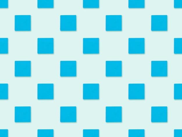 Nahtloses geometrisches blaues würfelmuster. nahtloses abstraktes muster mit dem bild von geometrischen formen.