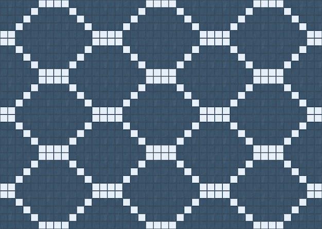 Nahtloses kleines blau unter weißem hölzernem fliesenmusterdesign-wandhintergrund.