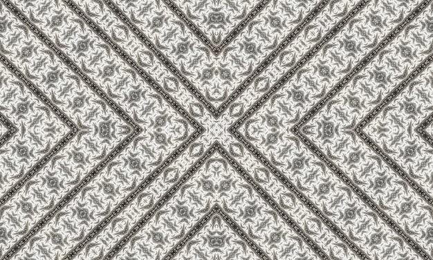 Nahtloses mosaik. monochromes blatt-kaleidoskop. graue batik-karte. monochrome kaleidoskop-menschen. glasmalerei rose. weißes modernes abstraktes aquarell.