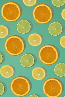 Nahtloses muster der fruchtzitrusfrüchte