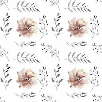 Nahtloses muster der frühlingsaquarell-blütenrosa-blumen
