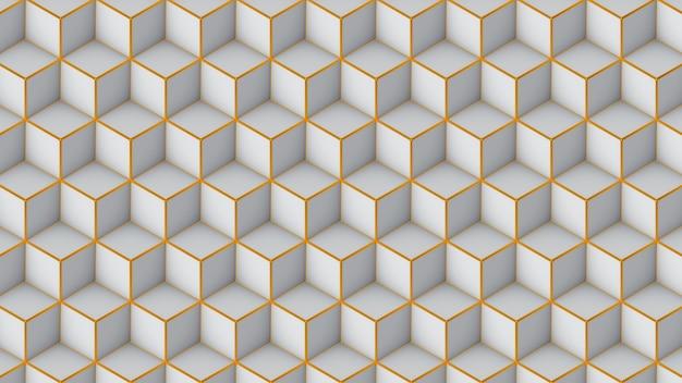 Nahtloses muster der isometrischen würfel. 3d render würfel hintergrund