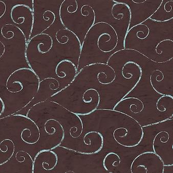 Nahtloses muster der orientalischen weinlese auf schokoladenbraunem hintergrund