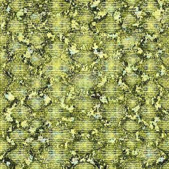 Nahtloses muster der schlangenhaut. reptil python nahtlose textur. tierfarbe grün gelb sich wiederholende drucktextur. mode stilvoller textilstrukturierter hintergrund.