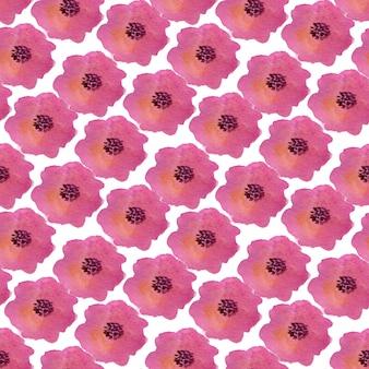 Nahtloses muster des aquarells mit mohnblumenblumen. kann für die verpackung, textil- und verpackungsgestaltung verwendet werden