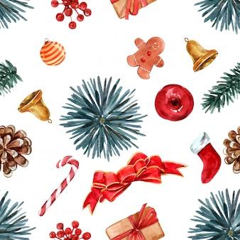 Nahtloses muster des weihnachtsthemas weihnachtsthema.