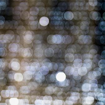 Nahtloses muster des weißen glühenden belichteten bokeh hintergrundes