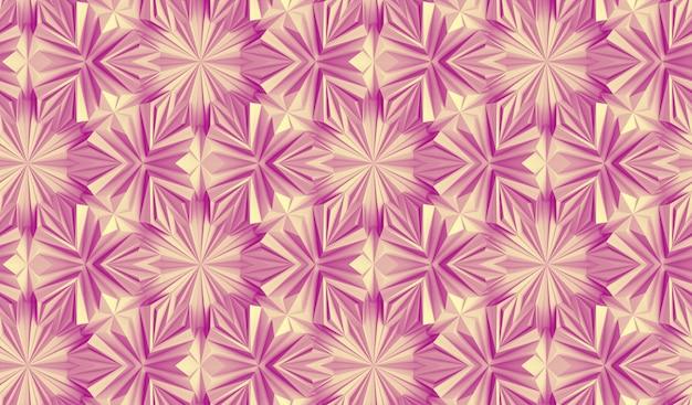 Nahtloses muster komplexer geometrischer elemente, die miteinander verflochten sind 3d-illustration