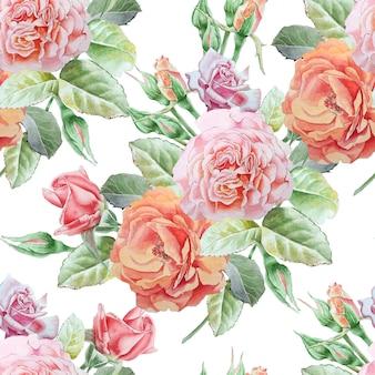 Nahtloses muster mit rosen.